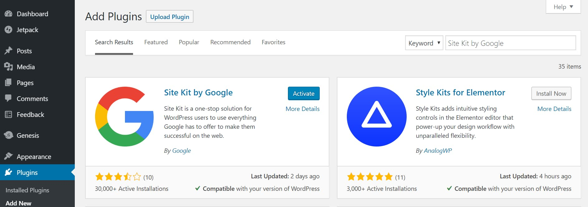 install and activate site kit by google from your wordpress dashboard