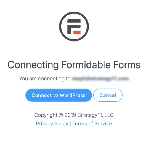 connect formidable forms with wordpress