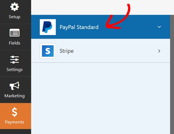 wpforms payment settings