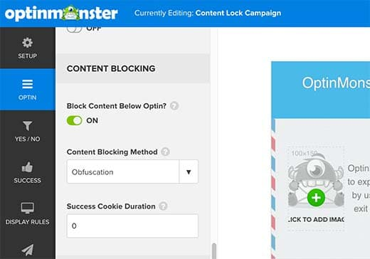 optinmonster content block options