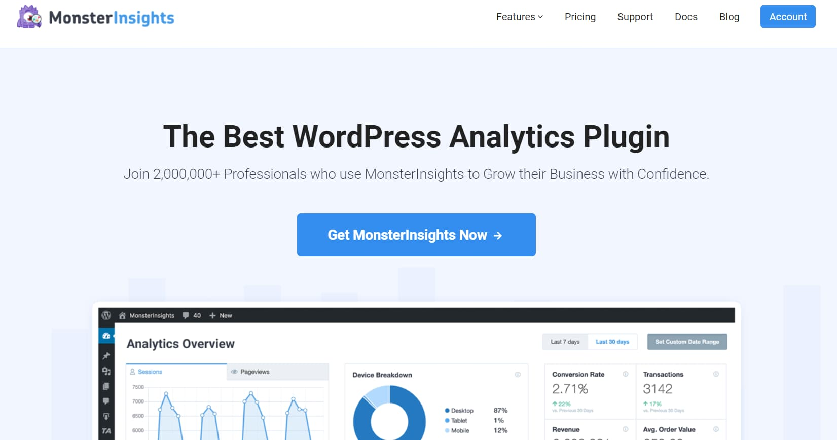 monsterinsights keyword research tools